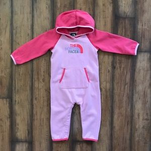 The North Face Romper In Pink Logo One Piece